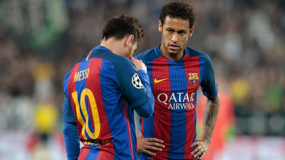 Messi dan Neymar yang tidak mampu berbuat banyak dalam laga kontra Juventus